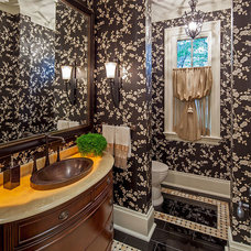 Traditional Powder Room by Makow Associates Architect Inc
