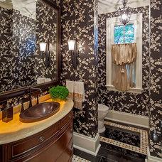 Traditional Powder Room by Makow Associates Architect Inc