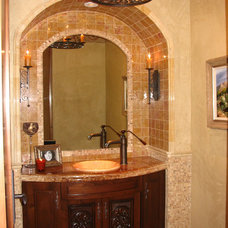 traditional powder room by Theta Studio