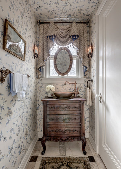 Traditional Powder Room by Linda Fritschy Interior Design