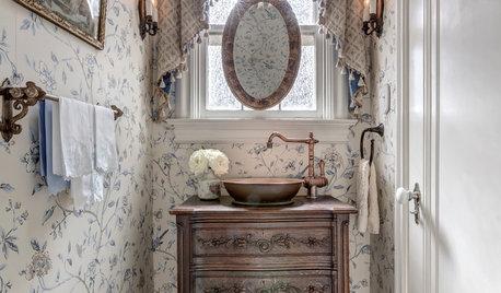 Designers Transform Vintage Cabinets Into Bathroom Vanities