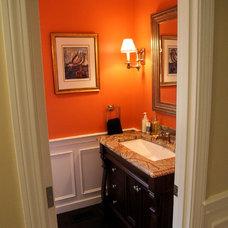 Traditional Powder Room by M.A. Restoration Inc.