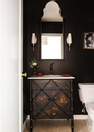 Traditional Powder Room by Charmean Neithart Interiors