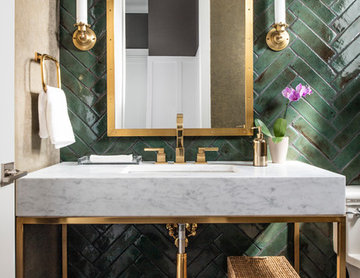 Transitional Elegance Powder Room