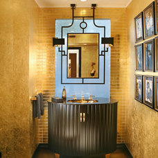 Transitional Powder Room by Cynthia Bennett & Associates