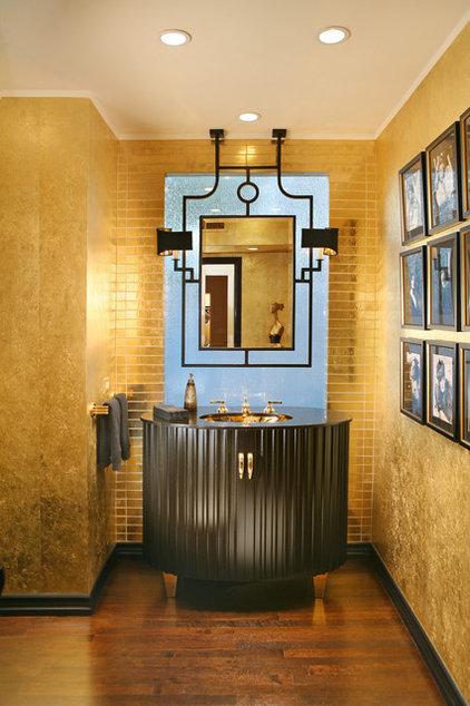 Transitional Powder Room by Cynthia Bennett & Associates