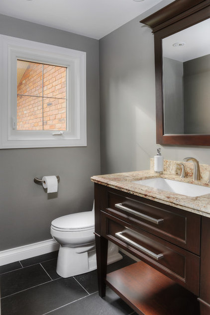 traditional powder room by Braam's Custom Cabinets
