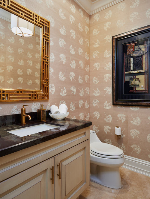 1 080 Asian Powder Room Design Ideas Remodel Pictures