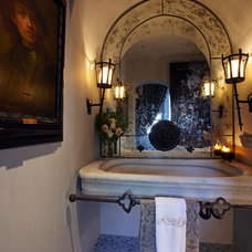 Mediterranean Powder Room by Wendy Black Rodgers Interiors