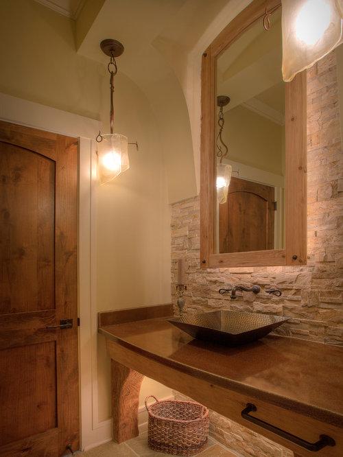 Rustikale g stetoilette g ste wc mit kupfer waschbecken - Kupfer wandfarbe ...