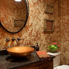 Traditional Powder Room by Suzan J Designs - Decorating Den Interiors