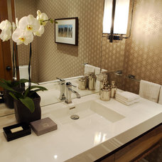 Transitional Powder Room by Gillian Gillies Interiors (GGI)