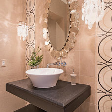 Contemporary Powder Room by Interiors By Agostino's