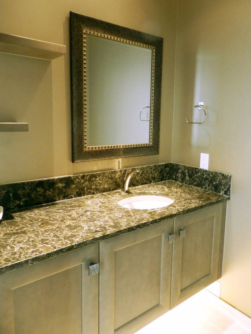 Powder Room Design Ideas Remodels Photos With A Wall Mount Sink And Sh
