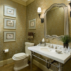 traditional powder room by Gacek Design Group, Inc.