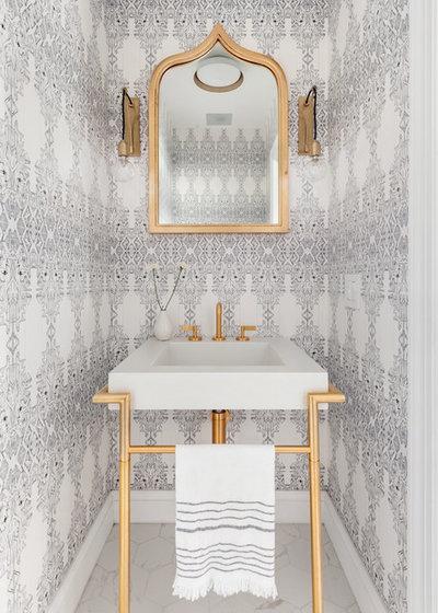 Scandinavian Powder Room by Regan Wood Photography