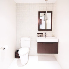 Modern Powder Room by kimberly peck architect