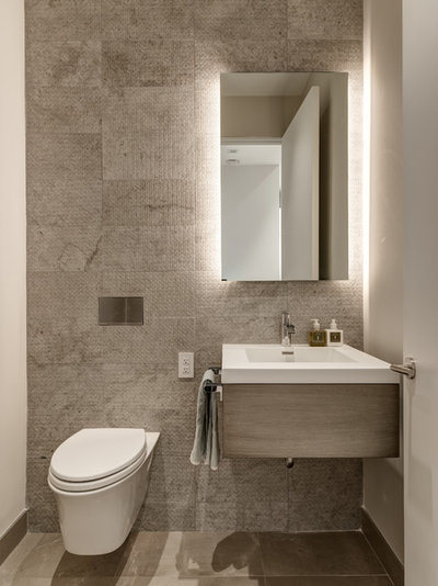 Contemporary Powder Room by Michael Zenreich Architects