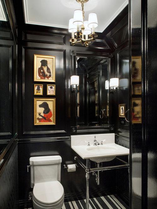 Black Powder Room Houzz