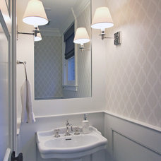 Transitional Powder Room by Anthony Wilder Design/Build, Inc.
