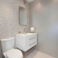 Contemporary Powder Room by Creative Designs by Sofia