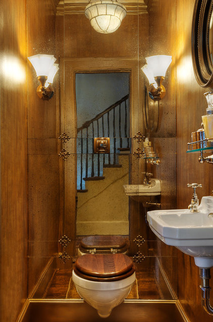 Traditional Powder Room by Panageries