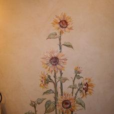 Mediterranean Powder Room by Chelsea McGraw Storybook Murals