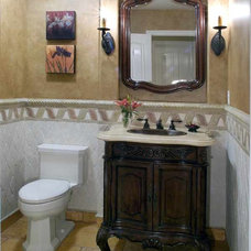 Traditional Powder Room by Hamilton-Gray Design, Inc.