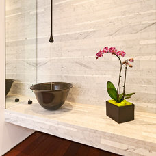 Contemporary Powder Room by The Xanadu group