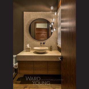 На фото: туалеты в стиле модернизм