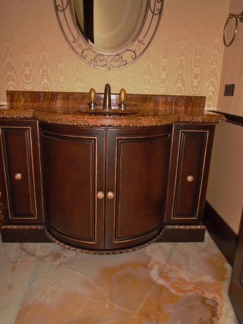 photos et id es d co de wc et toilettes avec un placard en trompe l 39 oeil et un carrelage orange. Black Bedroom Furniture Sets. Home Design Ideas