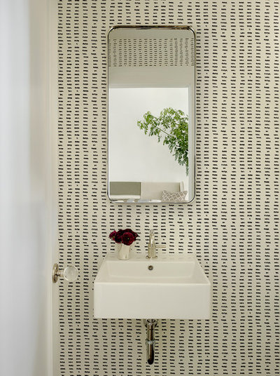 Contemporary Powder Room by Jute Interior Design