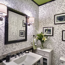 Contemporary Powder Room by Mona Ives