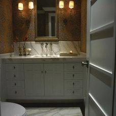 Traditional Powder Room by Harte Brownlee & Associates Interior Design