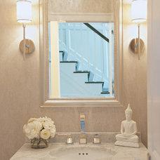 Contemporary Powder Room by Susan Glick Interiors