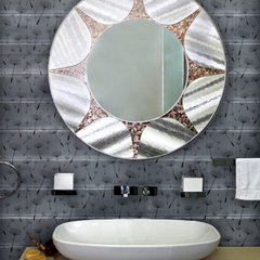 modern powder room by Architectural Art Tile
