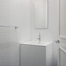 Contemporary Powder Room by Axis Mundi