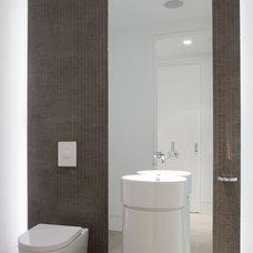 Contemporary Powder Room by Magdalena Keck Interior Design