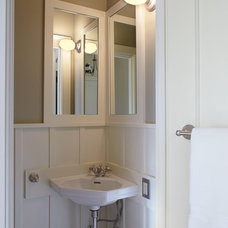 Traditional Powder Room by Jetton Construction, Inc.