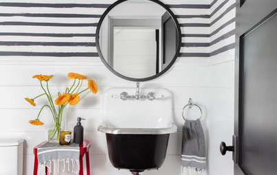 Powder Room Patterns: 10 Stylish Striped Looks