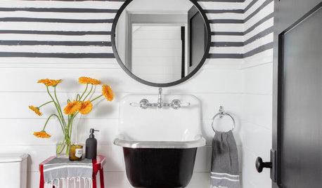 Powder Room Patterns: 10 Stylish Striped Looks