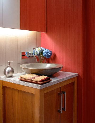Contemporary Powder Room by Alan Kosa Interiors