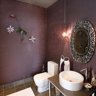 Powder room - eclectic powder room idea in Dallas