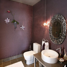 Eclectic Powder Room by RSVP Design Services