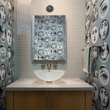 Eclectic Powder Room by Applegate Tran Interiors