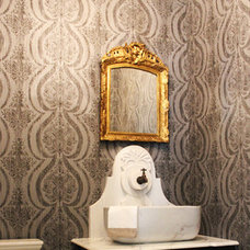Traditional Powder Room by Cindy Aplanalp-Yates & Chairma Design Group