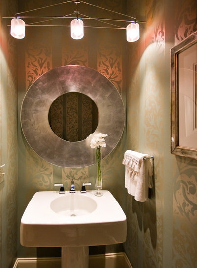 Contemporary Powder Room by LORRAINE G VALE, Allied ASID