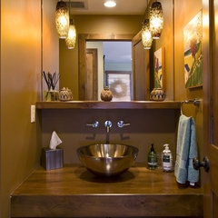 contemporary powder room by Design By Lisa