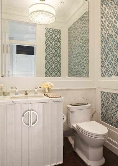 Victorian Powder Room by Polsky Perlstein Architects