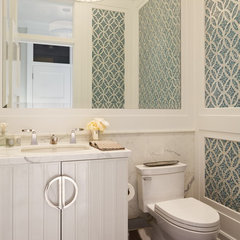 traditional powder room by Polsky Perlstein Architects